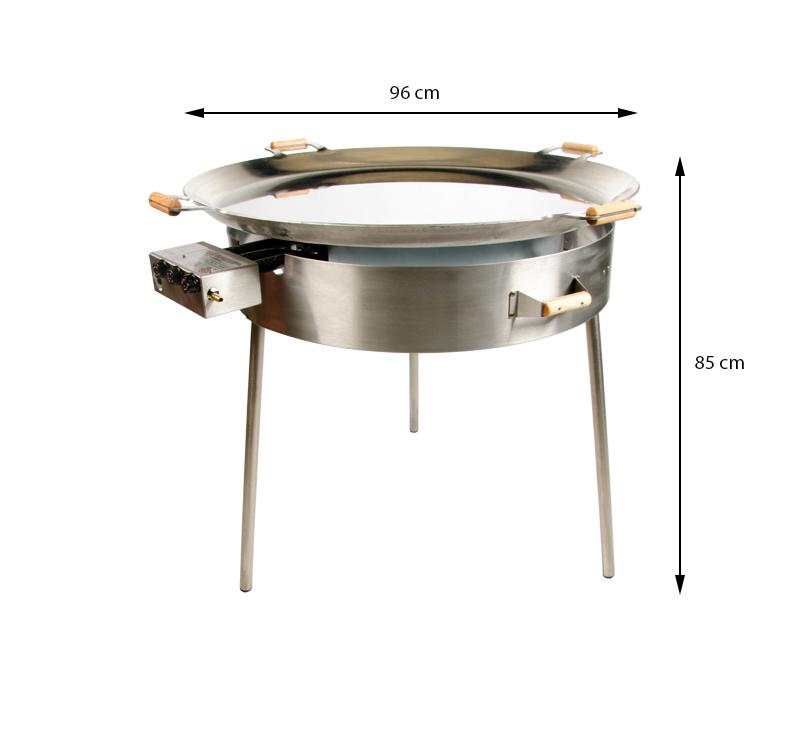 GrillSymbol stekhäll gasol PRO-960 inox, ø 96 cm
