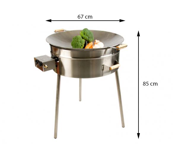 GrillSymbol gasol wok utomhus PRO-675, ø 67 cm