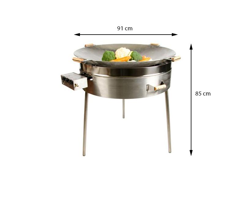 GrillSymbol gasol wok utomhus PRO-915, ø 91 cm