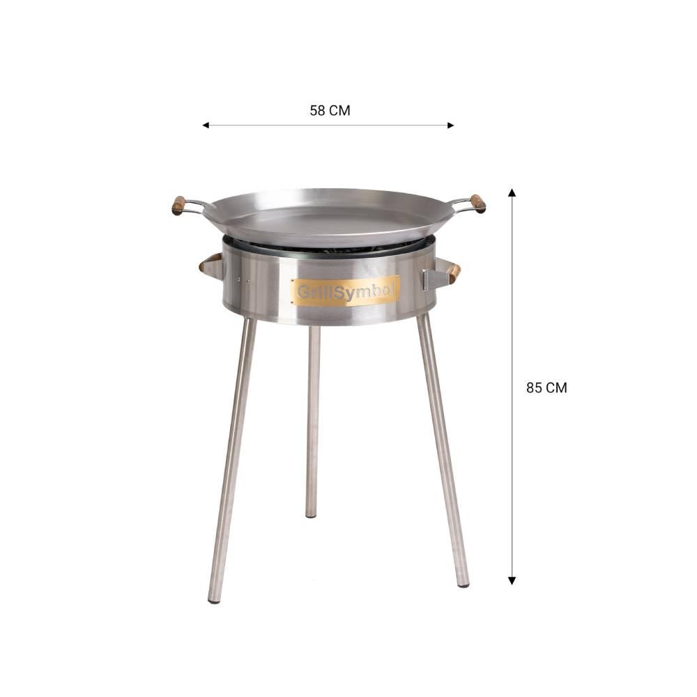 GrillSymbol stekhäll gasol PRO-580, ø 58 cm