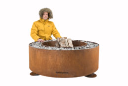 GrillSymbol Luna Outdoor Wood Burning Fire Pit