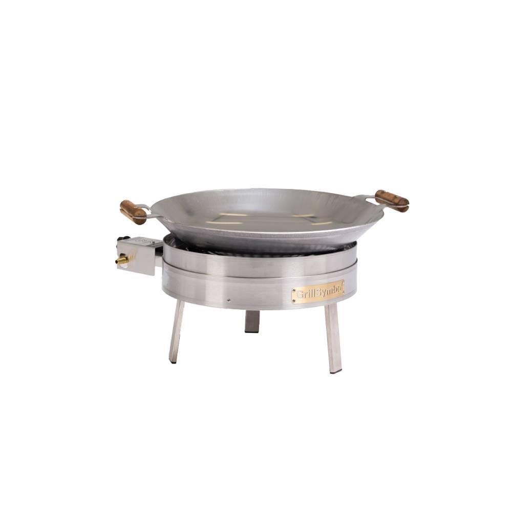 GrillSymbol gasol wok utomhus PRO-450 inox, ø 45 cm