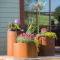 GrillSymbol Cor-Ten Steel Flower Pot Set Sisters