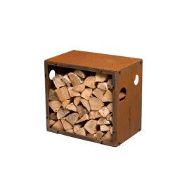 Vedförvaring Corten WoodStock S