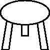 Utemöbler corten stål