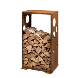Vedförvaring Corten WoodStock M